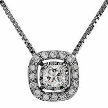 0.27 ct. t.w. Multi-Stone Diamond Pendant in 14K White Gold I,I1 (IGI Appraisal Value: $585)