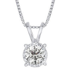 0.15 ct. t.w. Round Diamond Pendant in 14K White Gold (I,I1)