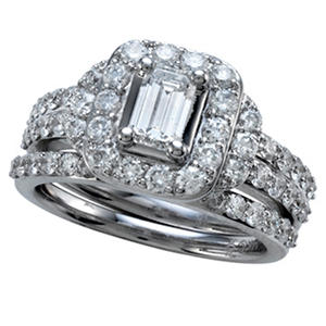 2.00 ct. t.w. Emerald Cut Diamond Bridal Ring Set in 14K White Gold (IGI Appraisal Value: $4,110)