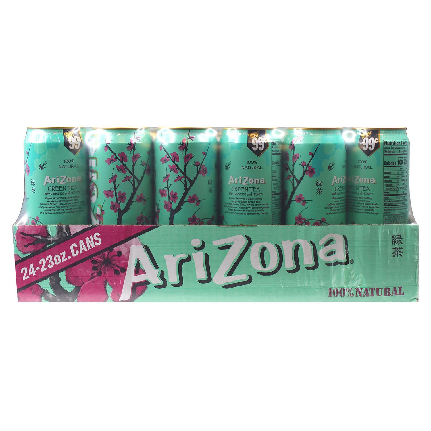 ARIZONA ICE TEA GREEN W/GINSENG (Pack of1)