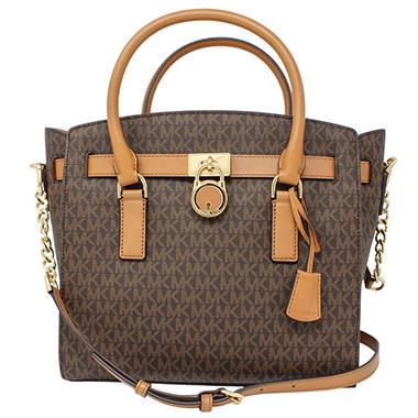 8bcfef2db269 Hamilton Large Satchel Leather Handbag by Michael Kors - Sam's Club