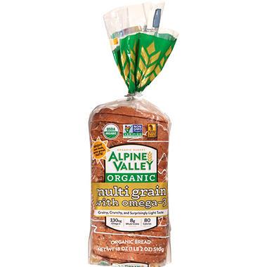 Alpine Valley Organic Multi Grain Bread Omega 3 18 Oz