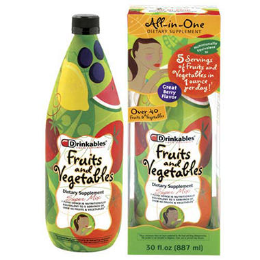 Drinkables� Liquid Fruits & Vegetables - 30 oz.