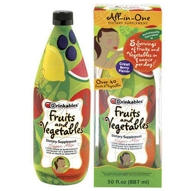 Drinkables Liquid Fruits/Vegetables - 30 oz. 6 pk.