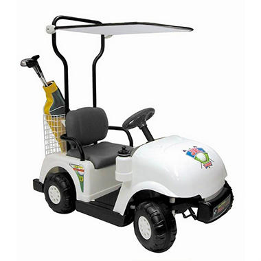 6V Ride-On Golf Cart - White