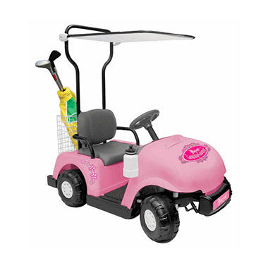 6V Pink Princess Ride-On Golf Cart