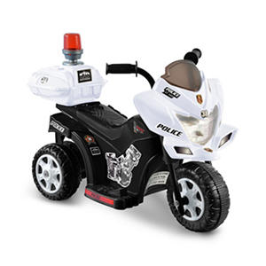 6V Black & White Lil Patrol Ride-on Police Motorcycle