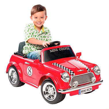 6V Racing Mini Cooper Ride-On - Red