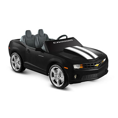 12V Black Chevrolet Ride-on Racing Camaro