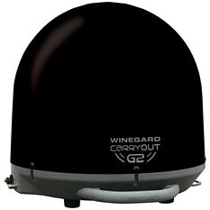 Carryout G2 Automatic Portable Satellite TV Antenna - Black or White