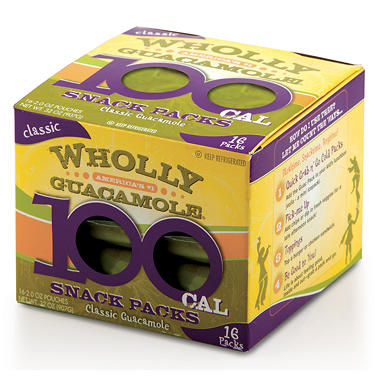 Wholly Guacamole Snack Pack -  32 ozs.