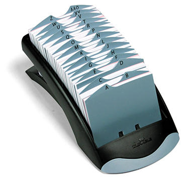 Durable® TELINDEX® Desk Address Card File