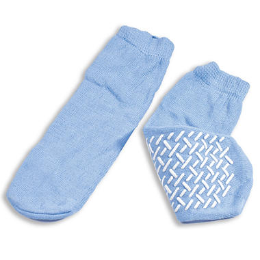 Dynarex Soft Sole Slipper Socks - Sky Blue - Large - 48 ct.