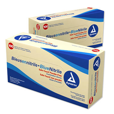 Dynarex - Safe-Touch? Nitrile Exam Gloves - Powder Free - Various Sizes