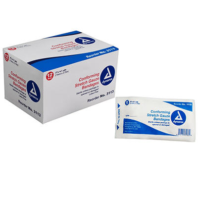 "Dynarex Sterile Stretch Gauze Bandages  - 3"""