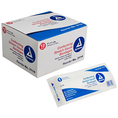 Dynarex Sterile Stretch Gauze Bandages - 4