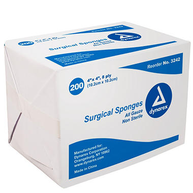 """Dynarex Non-Sterile Gauze Sponges - 4"""" x 4"""""""