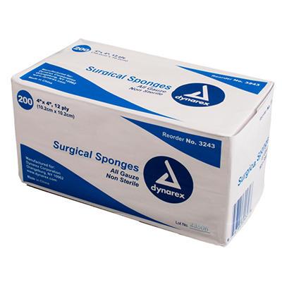 """Dynarex Sterile Gauze Sponge -Twin Pack - 4"""" x  4"""""""