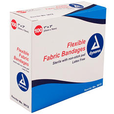 "Dynarex Flexible Sterile Fabric Bandage - 1"" x  3"""