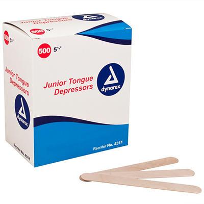 """Dynarex Non-Sterile Tongue Depressor - 5 1/2"""""""
