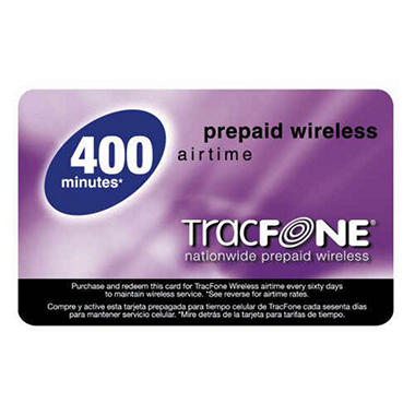 Tracfone® Prepaid Wireless Airtime - 400 min.