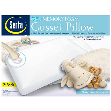 Serta Gel Foam Micro Cushion Pillow - 2 pk.