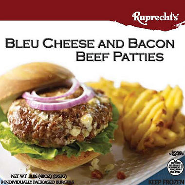 Ruprecht's Bleu Cheese and Bacon Beef Patties - 12 ct. - 32 oz.