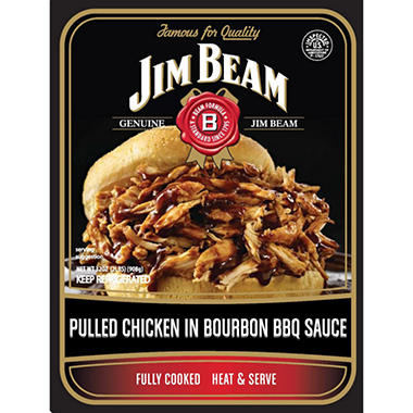 Jim Beam Pulled Chicken in Bourbon BBQ Sauce - 32 oz.