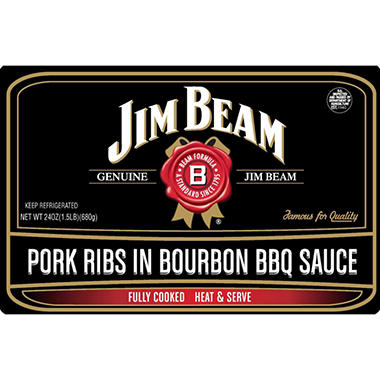 Jim Beam Pork Ribs in Bourbon BBQ Sauce - 24 oz.