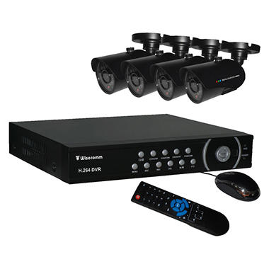 Clover 8 Channel Security System with 4 Indoor/Outdoor Night Vision Cameras, and 500GB DVR