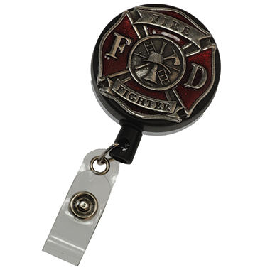 Fire Fighter Pewter Badge Reel
