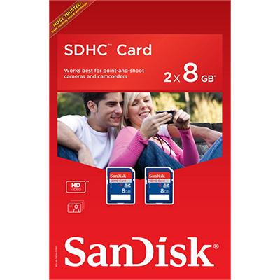 SanDisk 8GB SDHC Memory Card - 2 pk.