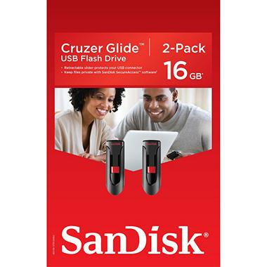 SanDisk 16GB USB Flash Drive, 2 pack