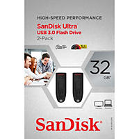 SanDisk Ultra USB  3.0 32GB, 2-Pack