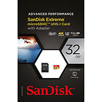 SanDisk Extreme 32GB microSDHC UHS-1 Card with Adapter