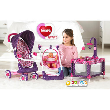 Heart 2 Heart 4 Piece Doll Care Set