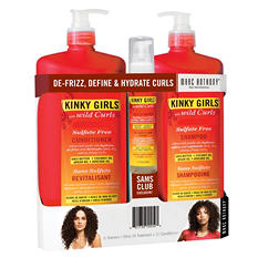 Marc Anthony Kinky Girls Shampoo, Conditioner & Oil Treatment (3 pk.)