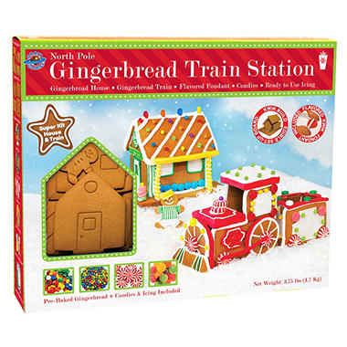 Gingerbread Train Station Kit
