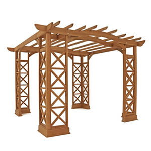 Yardistry Arched Roof Pergola (Choice of Size)