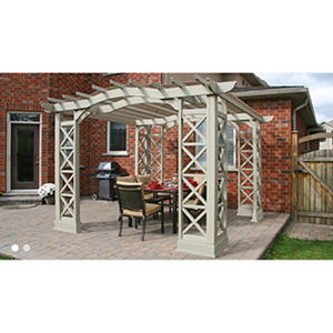 Yardistry 12? x 12? Grey Pergola with Snap-On Sunshade