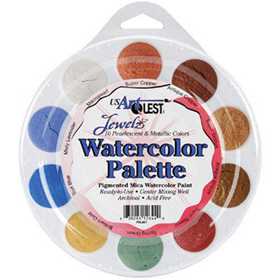 Jewelz Watercolor Palette-Metallics