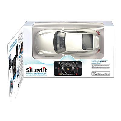 Silverlit Bluetooth Porshce 911 Carrera Appcessory - Silver