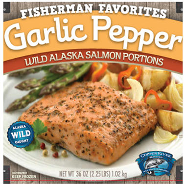 Wild Alaskan Garlic Pepper Salmon - 2.25 lbs.