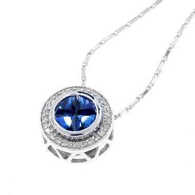 Blue Sapphire & Diamond Q'uortia Pendant