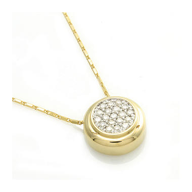 .50 ct. t.w. Pave Diamond Pendant in 14K Yellow Gold (H-I, I1)