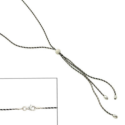 Sterling Silver Lariat Necklace with Beads
