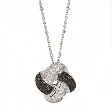 0.25 CT. T.W. Black & White Diamond Pendant in Sterling Silver (H-I & Black, I1)