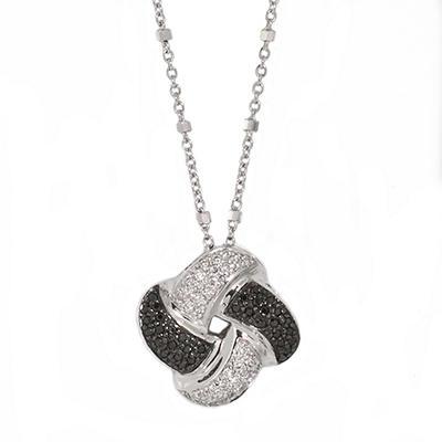 0.25 CT. T.W. Black & White Diamond Pendant in Sterling Silver (H-I & Black, I1)