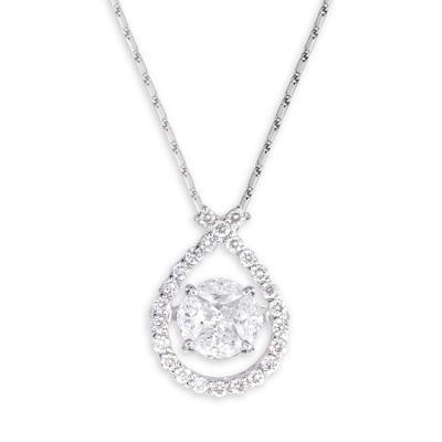 0.50 CT. TW. Diamond Pendant in 14K White Gold