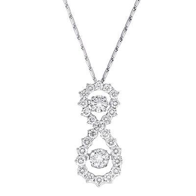 1.00 CT. T.W. Diamond Pendant in 14K White Gold
